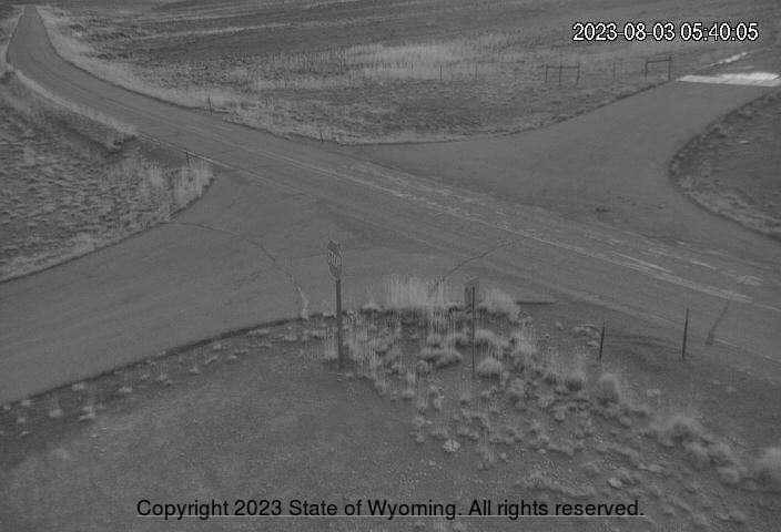 WYO 430 - Rifle Ridge - View of Intersection