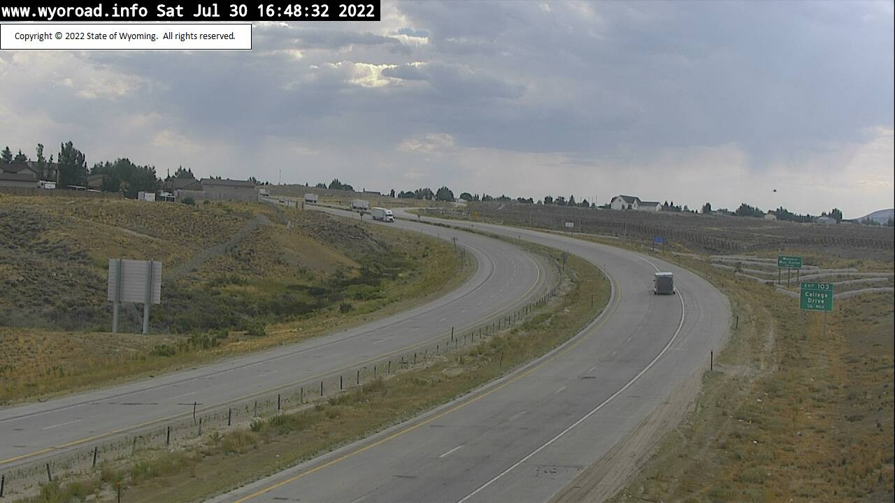 WYDOT Web Cam, I-80 near Rock Springs - View facing West