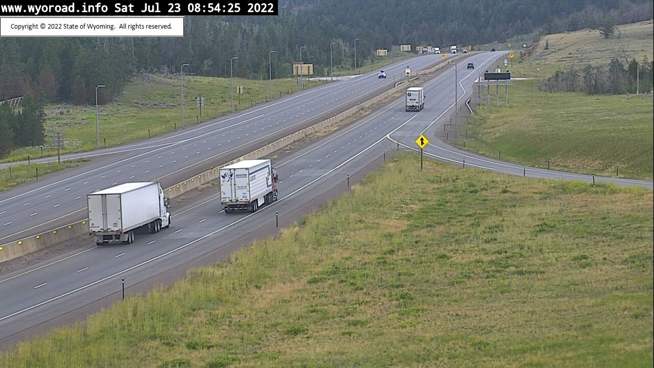 WYDOT I-80 Web Cam, view at summit between Cheyenne and Laramie