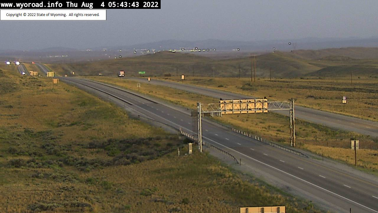 WYDOT I-80 Web Cam, view 20 miles east of Rawlins at Walcott Junction