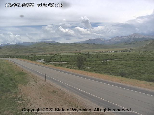 WyDot 189/191 Highway looking North