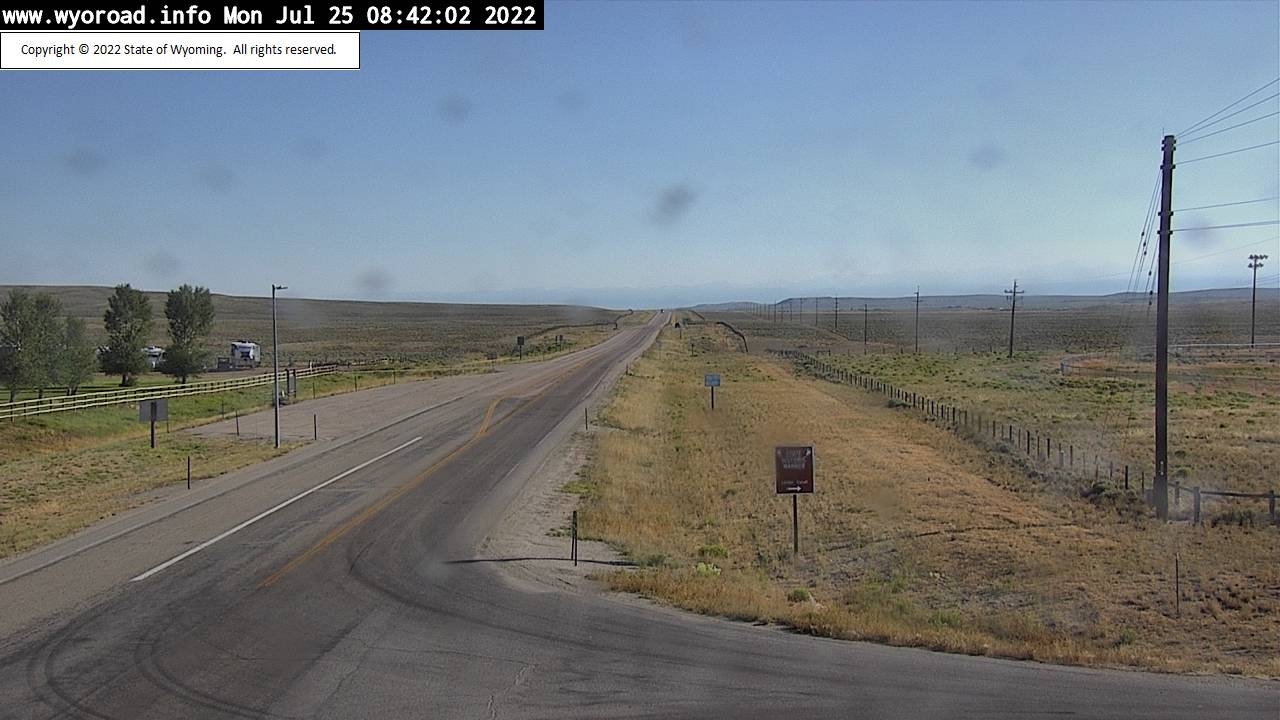 WYDOT Marbleton US 189 webcam - view looking north from Sublette County Fairgrounds