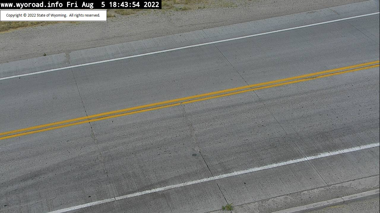 WYDOT Web Cam on US 191 at Sand Draw - view of road surface
